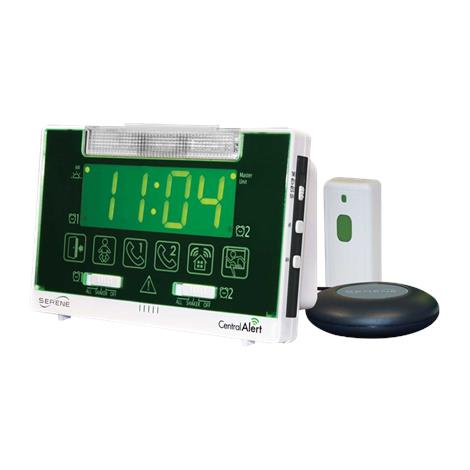 "Serene Innovations CentralAlert Tabletop Wireless Clock/Receiver Notification System,Dimensions: 6.5"" x 4.5"" x 2.25"",Each,CA-360"