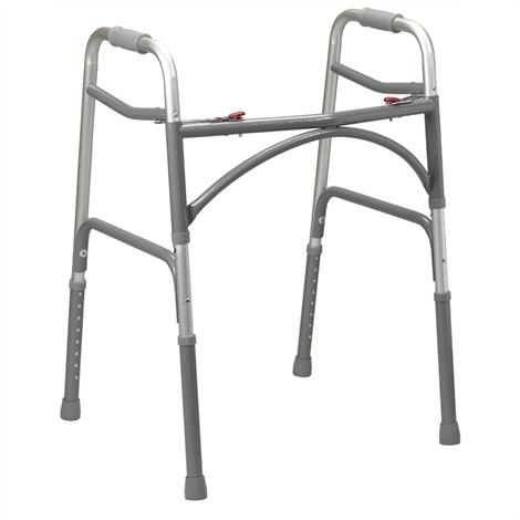 Drive Bariatric Aluminum Two Button Folding Walker,Adult,Each,10220-1