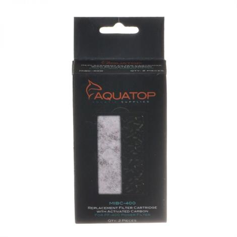 "Aquatop Carbon Insert Replacement Filter,7 Watts - 90 GPH - 6.5""L x 5""W x 9.5""H (For Aquariums up to 25 Gallons),Each,PF25-UV"