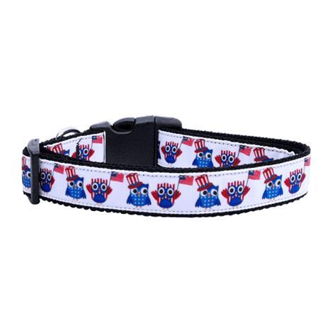Mirage American Owls Ribbon Dog Collar,Large Dog Collar,Each,125-082 LG