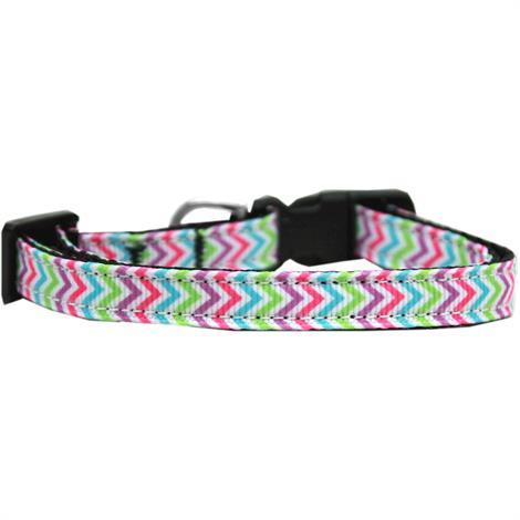 Mirage Summer Chevrons Nylon Ribbon Dog Collar,CAT Collar,Each,125-187 CT