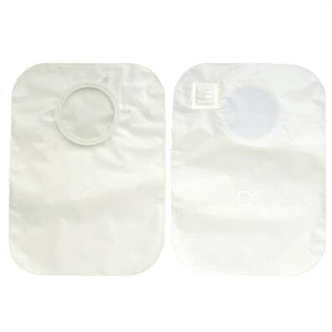 "Hollister CenterPointLock Two-Piece Closed-End Pouch With Filter,Flange 2.25"", Large,J,White,15/Pack,3343"