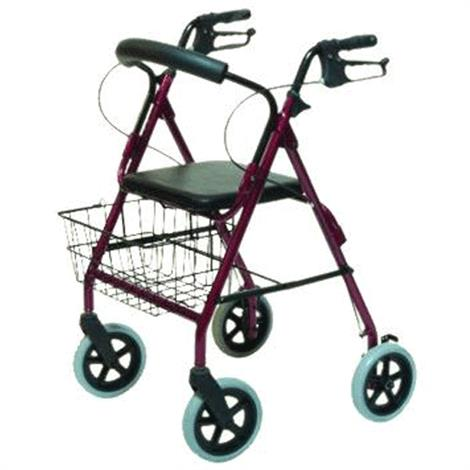 Graham-Field Lumex Walkabout Four-Wheel Contour Deluxe Rollator,Burgundy,Each,RJ4805R