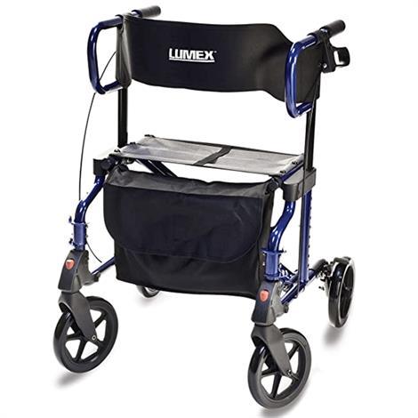 Graham-Field Lumex HybridLX Rollator Transport Chair,Majestic Blue,Each,LX1000B