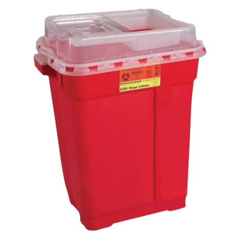 BD Nine Gallon Sharps Collector,Hinge Top,8/Case,305615