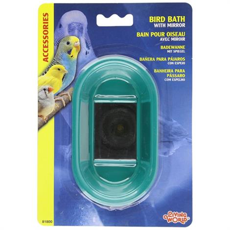 Living World Bird Bath With Mirror,Bird Bath With Mirror,Each,#81800