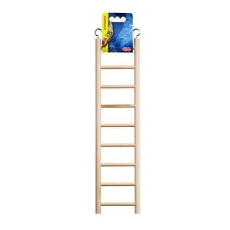 """Living World Wood Ladders for Bird Cages,12.5"""" High - 7 Step Ladder,Each,81502"""