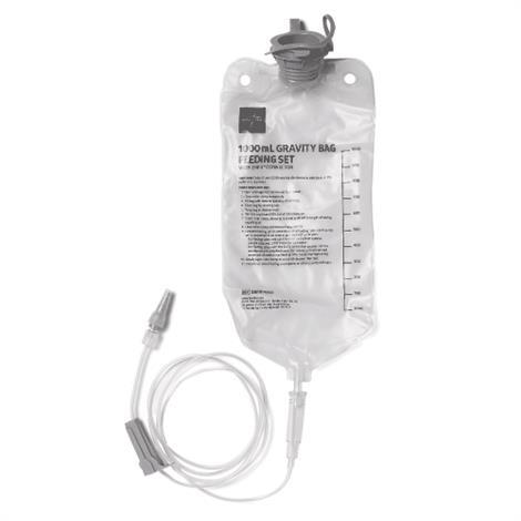 Medline Gravity Feeding Set with ENFit Connector,1000ml,Bag,Each,ENFIT70503H