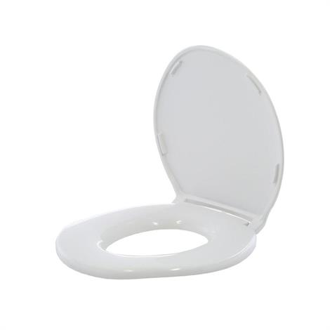 Big John Standard Closed Front Toilet Seat With Cover,Toilet Seat,Each,6W