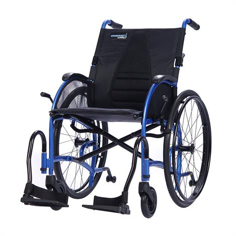 """Strongback Ergonomic Manual Wheelchair,Large Seat 20"""" With Attendant Brakes,Each,1013AB"""