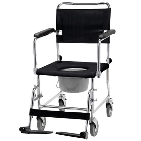 Lumex Versamode Drop Arm Commode Chair,2 Rear Locking Casters and 7qt pail,Each,6810A