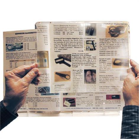 North Coast Medical Full Page Rigid Magnifier,11 x 8-1/2,Each,NC24030