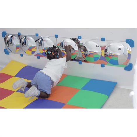 "Childrens Factory Six Bubble Mirror Border,64"" x 11"" x 2.75"",Each,CF362-527"
