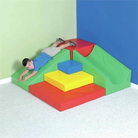 "Childrens Factory Corner Ridge Climber,60""W x 60""D x 22""H,Each,CF322-218"