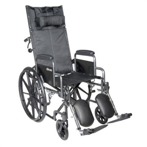 McKesson Reclining Single Axle Wheelchair With Detachable Padded Desk Arms,Each,146-SSP18RBDDA