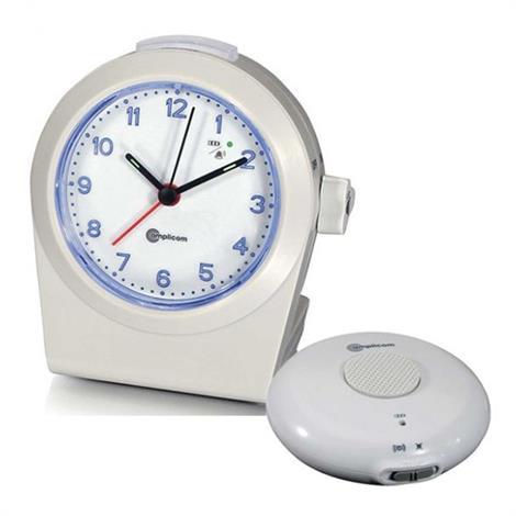 Amplicom TCL 100 Analog Alarm Clock with Wireless Bed Shaker,Alarm Clock,Each,93411