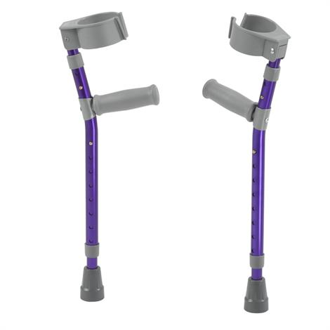 "Drive Pediatric Forearm Crutches,2'6""-3'5"",Castle Red,Pair,FC100-2GR"