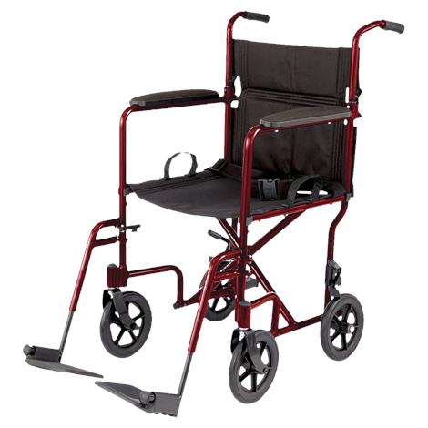 Medline Aluminum Transport Chair With 8 Inch Wheels,0,Each,MDS808200A