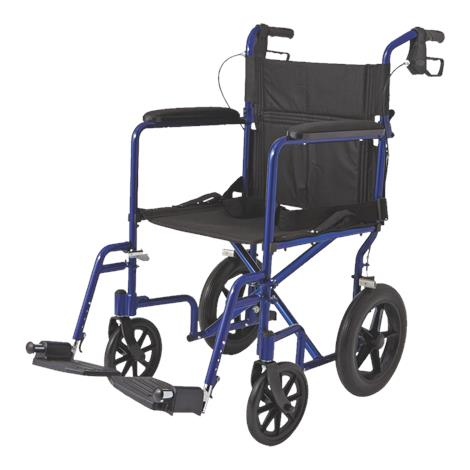 Medline Aluminum Transport Chair With 12 Inch Wheels,0,Each,MDS808210A