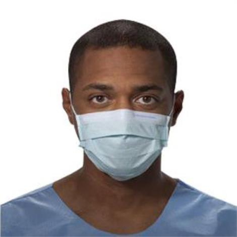 Kimberly Clark Prof Non-sterile Procedure Mask with Earloops,Blue,Each,47080