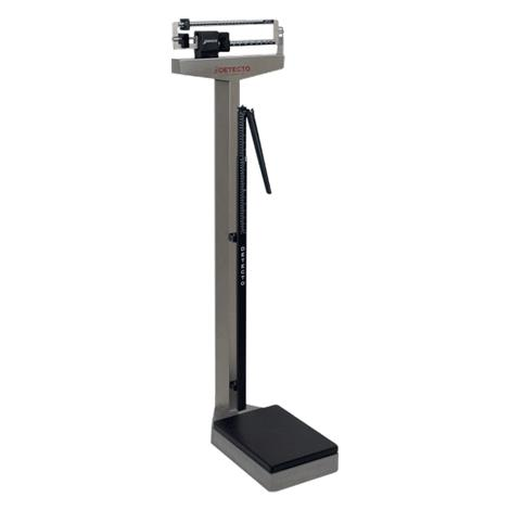 Detecto Stainless Steel Mechanical Health Care Scales,Eye-level with Height rod,Capacity: 180kg x 100g,Each,2391S