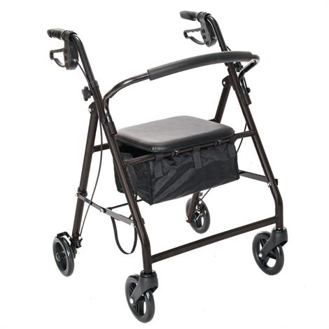 Essential Medical Aluminum Rollator with Loop Hand Brakes,Blue,Each,W1700B-14