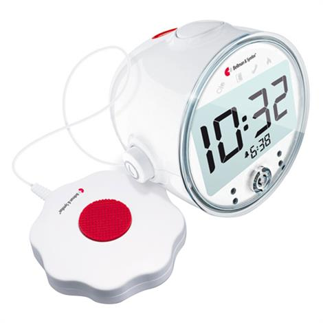 """Bellman Pro Vibrating Alarm Clock With LED Flashing Lights,4.3""""H x 4.7""""W x 3.6""""D (108mm x 121mm x 92mm),Each,BE1370"""
