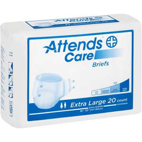"Attends Care Adult Briefs,Large,Fits Waist 44"" - 58"",24/Pack,3Pk/Case,BRHC30"