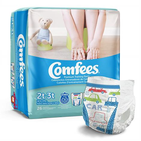 Comfees Premium Training Pants,Girl,Size 2T to 3T,Up to 34 lbs.,26/Pack,6Pk/Case,CMFG2