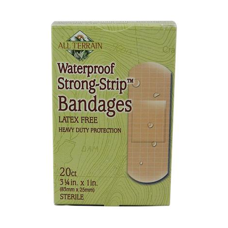 All Terrain Waterproof Strong Strip Bandages,3-1/4 x 1,20/Pack,51198