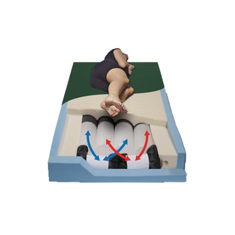 "Span America PressureGuard CFT Full Self-Adjusting Air Therapy Mattress,75""L x 54""W x 7""H,Each,CF7554-29"