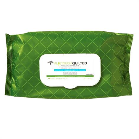 Medline Aloetouch Quilted Personal Cleansing Wipes,8 x 12 Wipes,48/Pack,12/Case,MSC263625