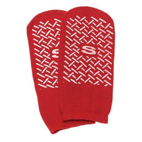 Complete Medical Non-Slip Slipper Socks,Beige,X-Large,Pair,10606D