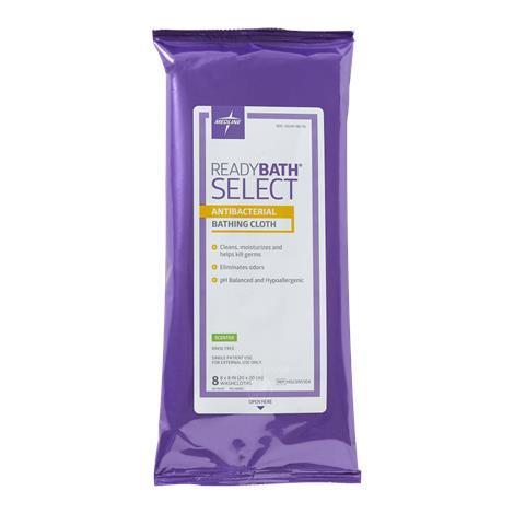 Medline ReadyBath SELECT Medium Weight Cleansing Washcloths,Antibacterial,Fragrance free,8/Pk,30Pk/Case,MSC095105