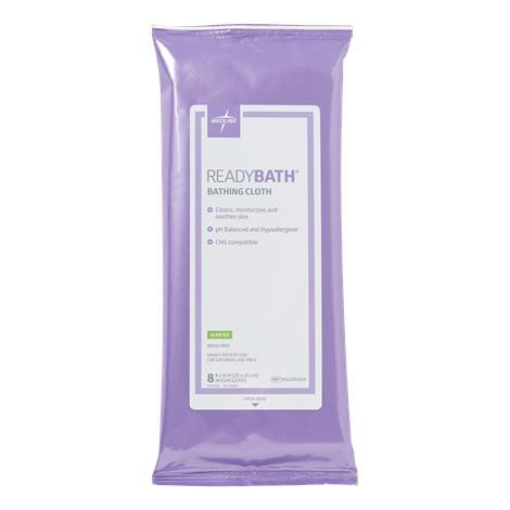 Medline ReadyBath Total Body Cleansing Standard Weight Washcloths,Fragrance-Free,8/Pack,30Pk/Case,MSC095305