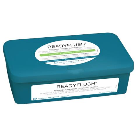 "Medline ReadyFlush Biodegradable Flushable Wipes,12""L x 8""W, Scented, Without Dimethicone,12/Pack,MSC263840"
