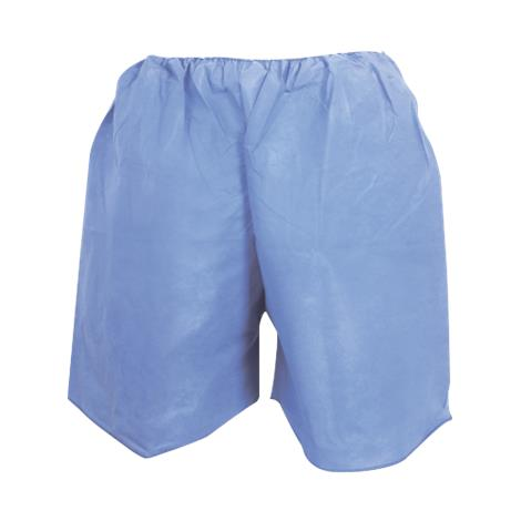 McKesson Blue SMS Adult Disposable Exam Shorts,X-Large,38 to 48 Inch Waist Size,100/Pack,16-1103