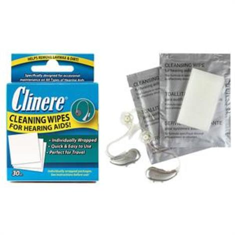 Clinere Hearing Aid Cleaning Wipes,30c,Each,CLN00017
