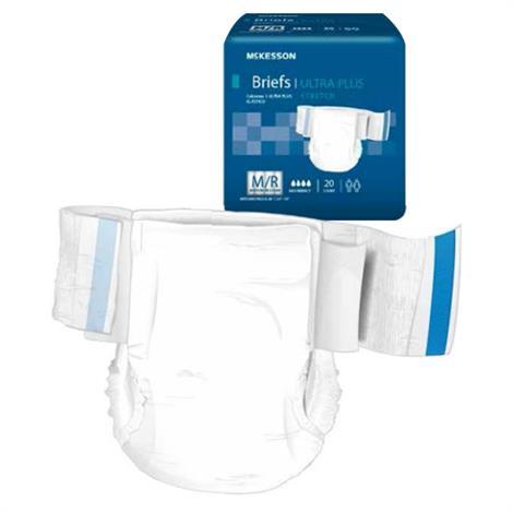 Mckesson Ultra Plus Stretch Tab Closure Adult Disposable Briefs,Large / X-Large,20/Pack,4Pk/Case,BRSTRLXL