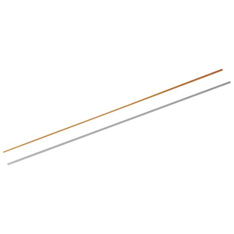 """Orfit Pre-Cut Non-Perforated NS Colored Thin Strips,Gold,2mm - 1/12"""",10/Pack,8113GO.1/NS"""