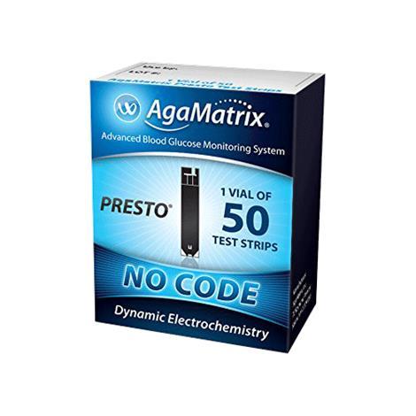 Agamatrix WaveSense Presto End Fil Test Strips,Presto Test Strips,100/Pack,8000-03337