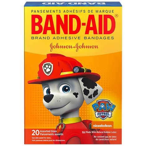 Band-Aid Decorative Paw Patrol Assorted Bandages,Assorted,20/Pack,116589