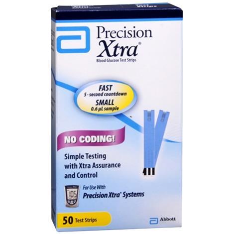 Abbott Precision Xtra Test Strips,Test Strips,100/Pack,99877