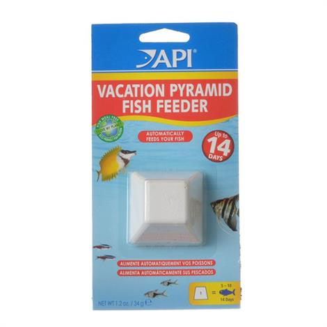 API 14 Day Vacation Pyramid Fish Feeder,Feeds up to 15-20 fish in a 10 gallon tank for 7 to 8 days,Each,71A