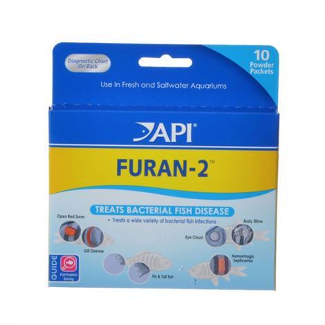 API Furan-2 Powder Anti-Bacterial Fish ,10 Powder Packets,Each,70P