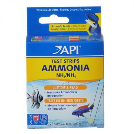 API Ammonia Test Strips,25 Strips,100/Pack,33D