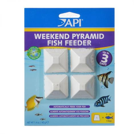 API 3-Day Pyramid Fish Feeder,Feeds 15-20 Fish for up to 4 Days,550/Pack,78