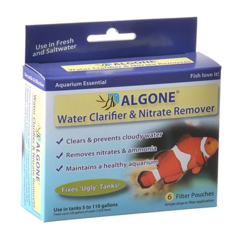Algone Water Clarifier & Nitrate Remover,Over 110 Gallons,Each,1002