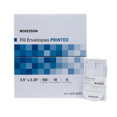 """McKesson Pill Envelopes,3-1/2"""" x 2-1/4"""",1000/Pack,10Pk/Case,63-4415"""