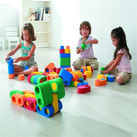 Weplay High-Grade Linkits Building Set,Red,Green,Yellow,Orange and Blue,Each,KC2103